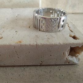 persoonlijke ringen tekstring zilver en zirconia - Vero 12