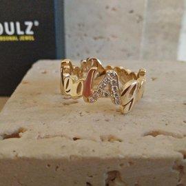Soulz ring model the Wave in 18kt goud met diamanten