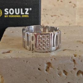 Gepersonaliseerde ring Soulz model Vero 12