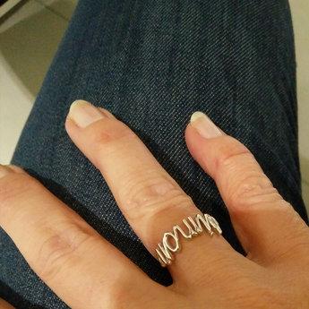 Persoonlijke draad naam ring