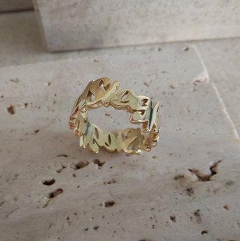 Name ring gold
