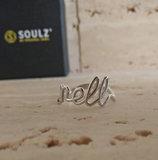 naam ring zilver Soulz