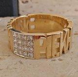 Gepersonaliseerde ring goud