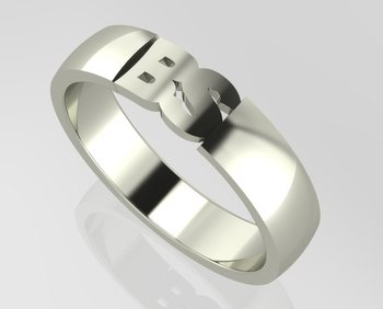 Initial Men's Ring Gold 18CT