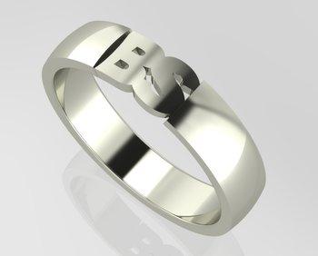 Initial Men's Ring Gold 18KT