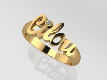 Name Ring Gold 18 CT