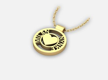 Naam ketting - Circle of Love Gold