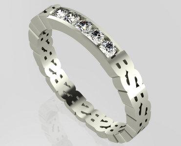 Initiaal ring Soulz - gepersonaliseerde trouwring