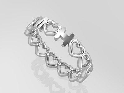 zilveren ringen met eigen tekst