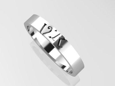 gepersonaliseerde zilveren ringen