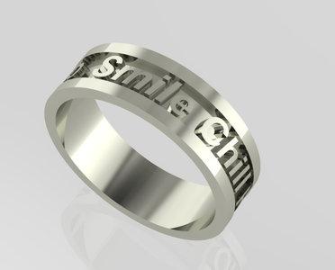 Gepersonaliseerde tekst ringen