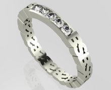 3d zilveren persoonlijke ringen